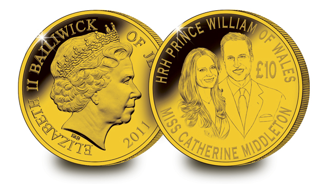 the royal wedding coin. Prestigious Royal Wedding