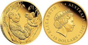 2011 australian gold proof koala - Perth Mint releases 2011 Australian Gold Proof Koala