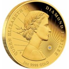 2878 2012 queen jubilee gold coin reverse - Swift sell out of Diamond Jubilee coin suggests numismatic interest in the celebrations growing