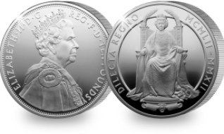 2012 uk diamond jubilee 5oz silver coin - Diamond Jubilee 5 oz Silver Coin sells out at The Royal Mint