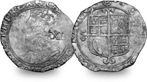 A Charles I Shilling, like some of those found in the hoard.