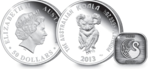 2013 aus koala platinum with mintmark - 25th Anniversary Platinum Koala Sell Out Announced by The Perth Mint