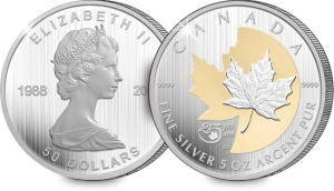 2013 canada maple leaf 5oz silver coin 4 - 25th Anniversary collectors miss out on Silver Maple Leaf