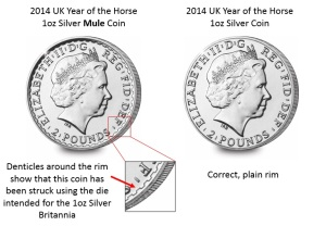 n019 explanation - Confirmation received of rare Royal Mint striking errors