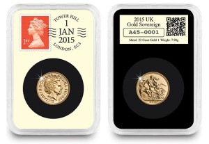 DateStamp™ 01/01/2015 UK Gold Sovereign