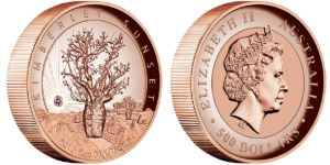 kim sunset 1 - The Perth Mint's Kimberley Sunset Coin, with pink diamond sells out