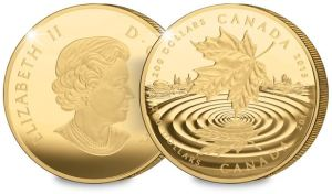 p983 obvrev - Pure Gold $200 Maple Leaf Reflection Coin Sells Out