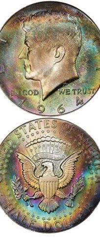 "kennedy half dollar - This ""funkadelic"" coin just sold for $22,325"