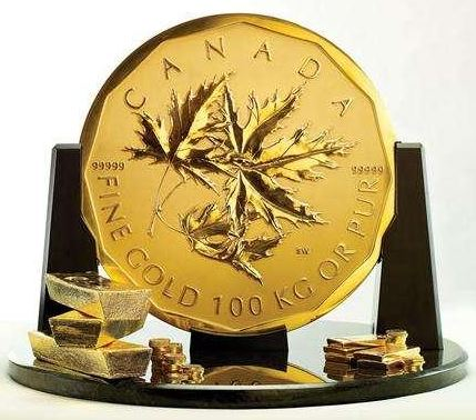 1kg maple - 100kg gold coin goes on sale… for £3.8m