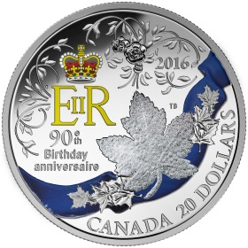 504e canada 2016 90th birthday 1oz silver reverse - New £20 note revealed