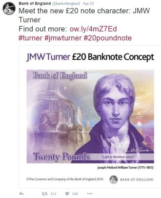 new c2a320 note - New £20 note revealed