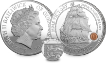 st hms victory guernsey silver c2a310 coin both sides with 10p - What makes this the most secure coin in the world?