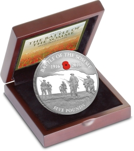 st battle of the somme 100th c2a35 silver proof guernsey coin in box with cert - Coin handed to the bank for destruction is potentially worth £2,000