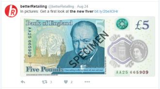New £5 Note Reverse
