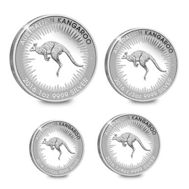 four-silver-proof-kangaroo-coins