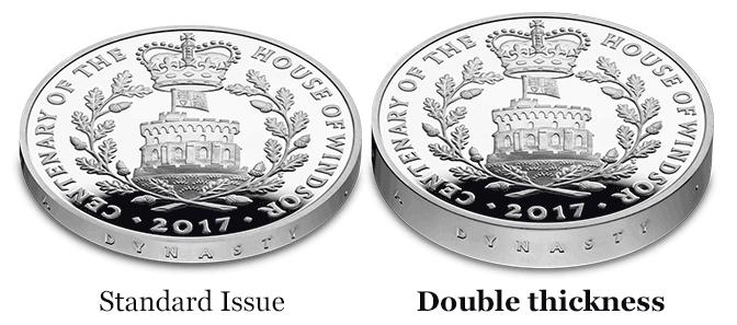 piedfort comparison image - The Expert Guides Series: Why Piedfort coins are a Portfolio essential