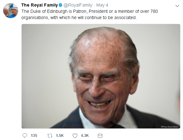 royal family tweet1 - BREAKING NEWS: The Royal Mint announces a brand new UK Prince Philip coin